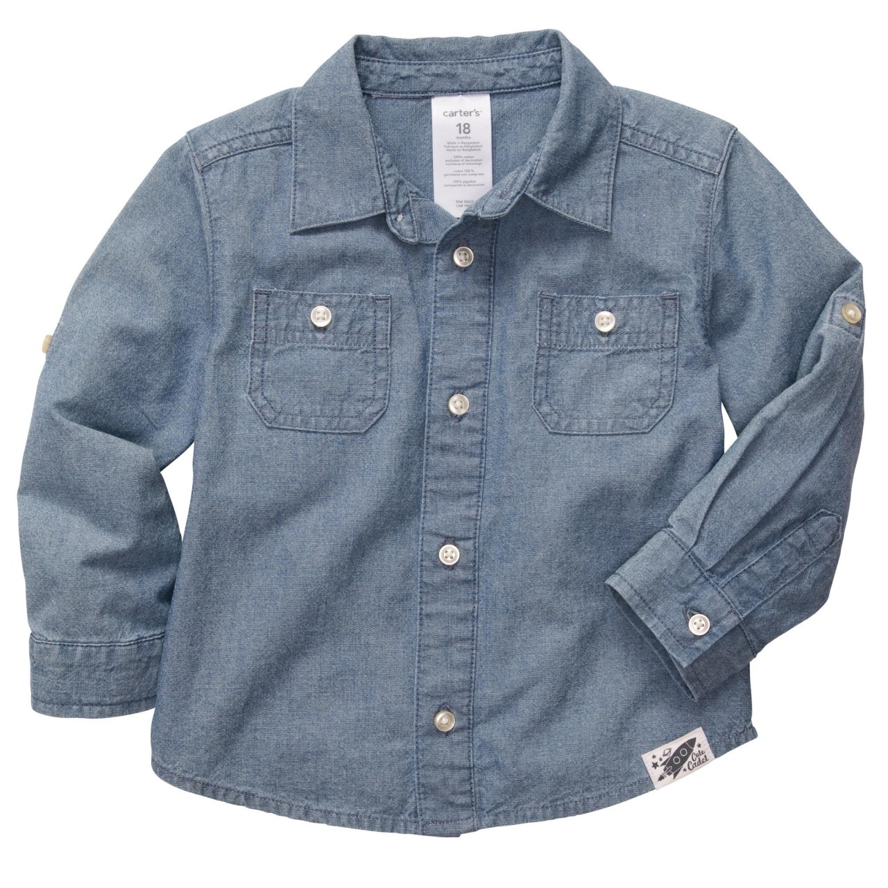 CAMISA CARTER'S JEANS CHAMBRAY