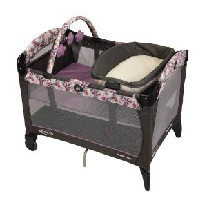 BER?O GRACO PACK ' N PLAYARD WITH REVERSIBLE NAPPER AND CHANGER - ADALINE
