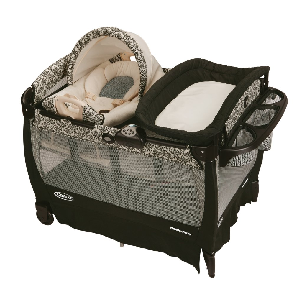 BER?O GRACO PACK' PLAY PLAYARD WITH CUDDLE COVE ROCKING SEAT