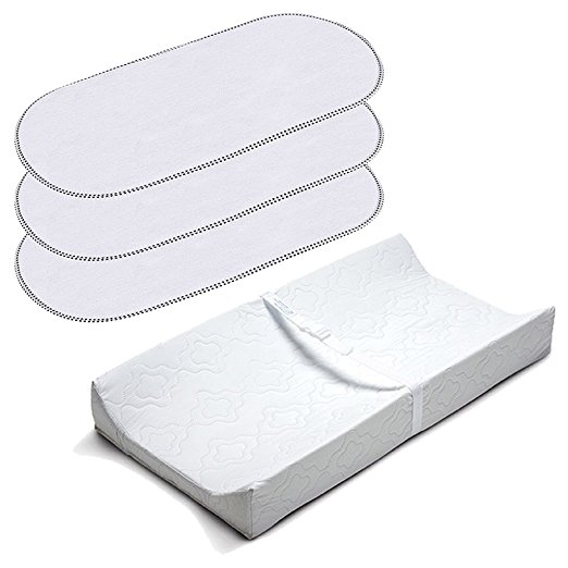 Kit Trocador Summer Infant 2 Sided Contoured Changing Pad with Waterproof Changing Pad Liners