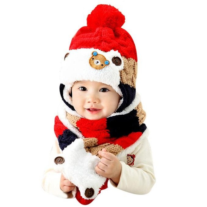 LOVELY CUTE GORRO E CACHECOL RED