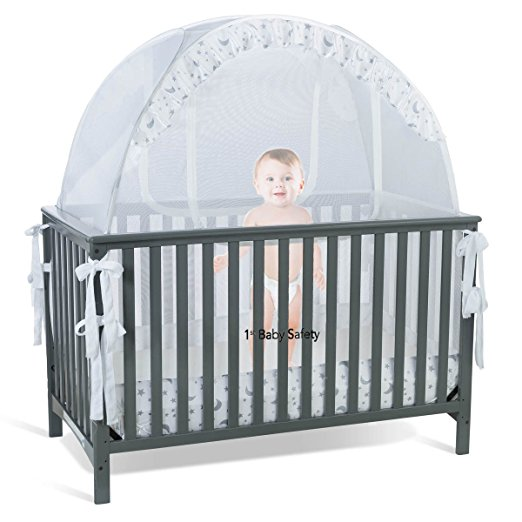 Baby Crib Tent Safety Net Pop Up Canopy Cover