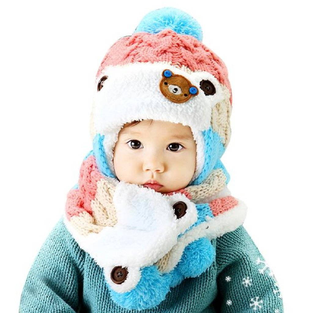 LOVELY CUTE GORRO E CACHECOL PINK