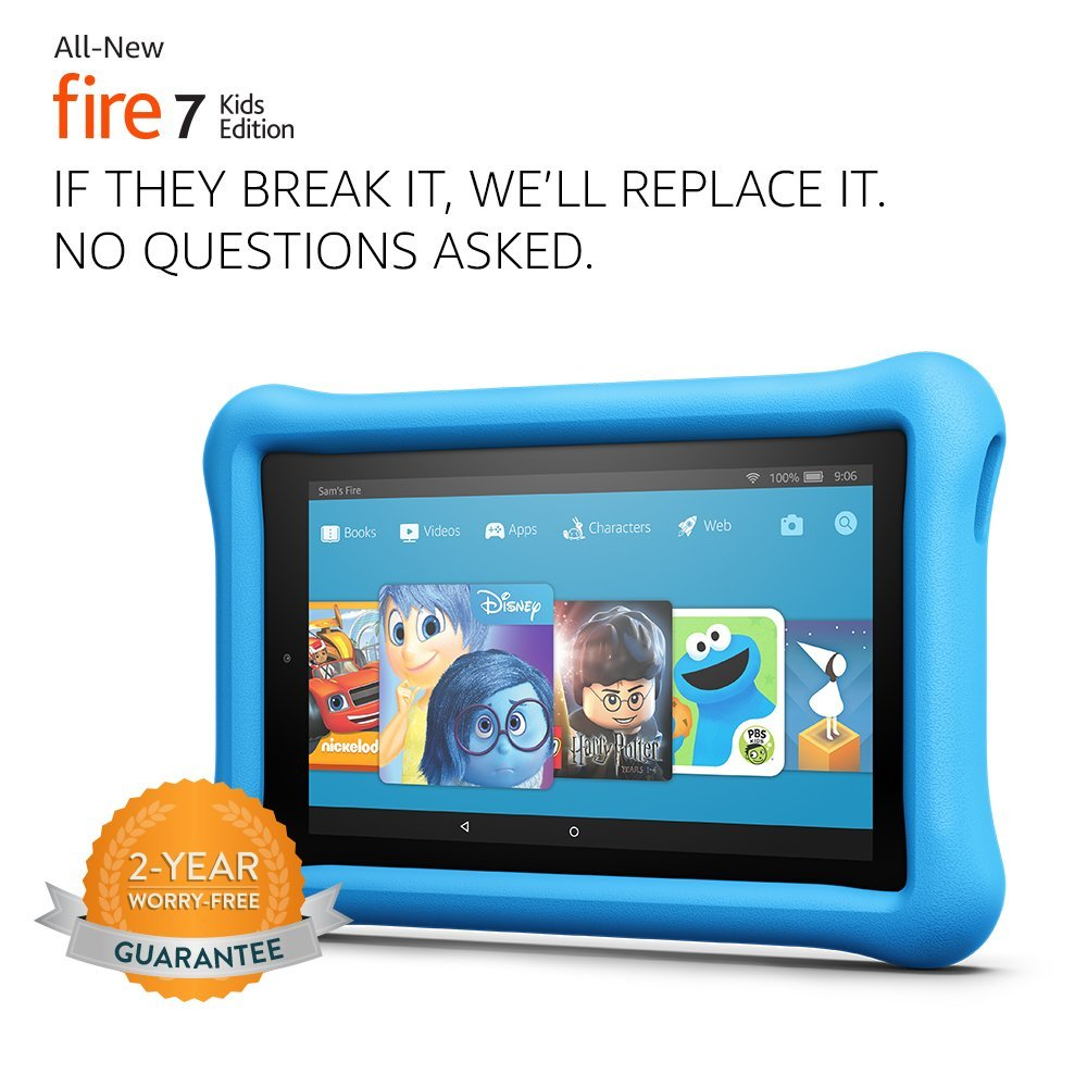 """Tablet All-New Fire 7 Kids Edition Tablet, 7"""" Display, 16 GB, Azul Kid-Proof Case"""