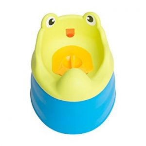 Penico Port?til Para Crian?as 2-In-1 Potty Training Seat Blue Frog