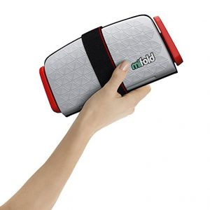 Assento Elevat?rio Para Crian?as Port?til Mifold Grab-and-Go Car Booster Seat Cor Cinza