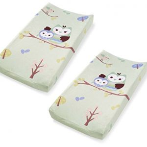Capa para Trocador Summer Infant Changing Pad Cover, Who Loves You Owl, 2 unidades