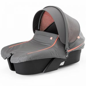 Mois?s Stokke Xplory Athleisure Carry Cot Complete Kit Cor Black/Coral